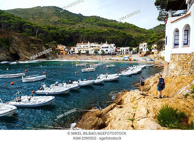 Sa Tuna, Begur. Costa Brava, Gerona. Catalonia, Spain, Europe