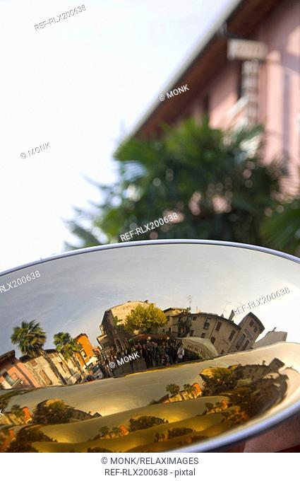 Close-up of reflection in Tuba, Sirmione, Lake Garda, Italy