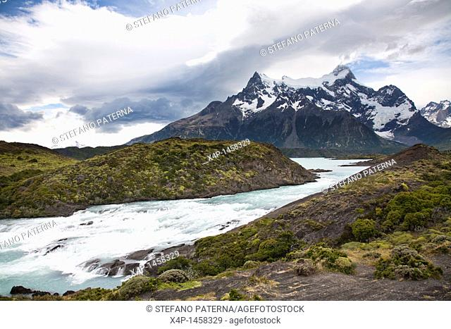 Salto Grande waterfall, Torres del Paine National Park, Chile