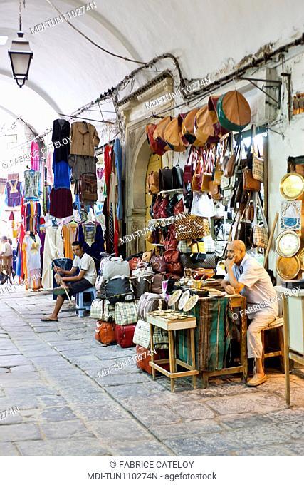 Tunisia - Tunis - Shop in the souks of the medina