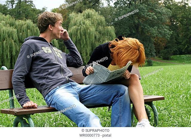 Couple bench