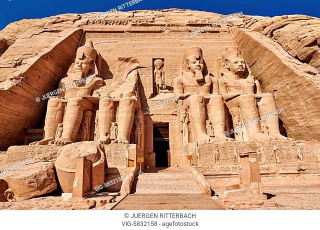 EGYPT, ABU SIMBEL, 11.11.2016, Great Temple of Ramesses II, Abu Simbel temples, Egypt, Africa - Abu Simbel, Egypt, 11/11/2016