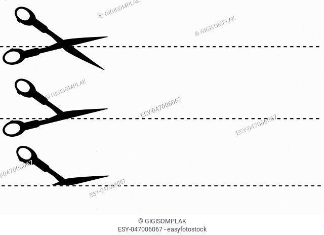 simple sign, Scissor, cut here