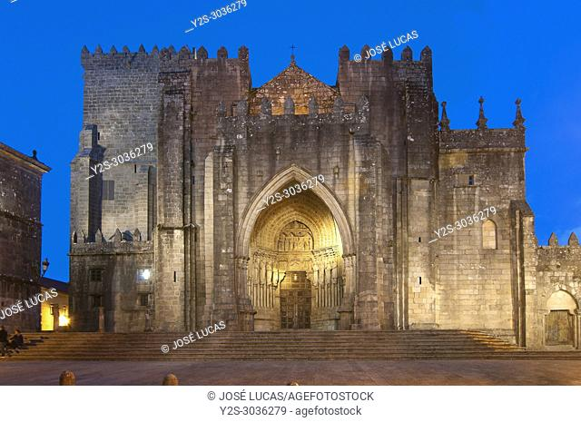 Romanesque cathedral of Santa Maria - 12th century, Tuy, Pontevedra province, Region of Galicia, Spain, Europe