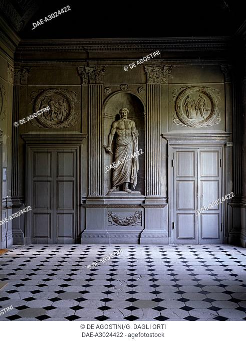 Detail of the Grand Gallery, Tanlay Castle (16th-17th century), Burgundy, France
