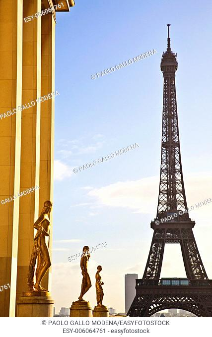 The best place in Paris to have a wonderful view on Eiffel Tower: Trocadero Terrace