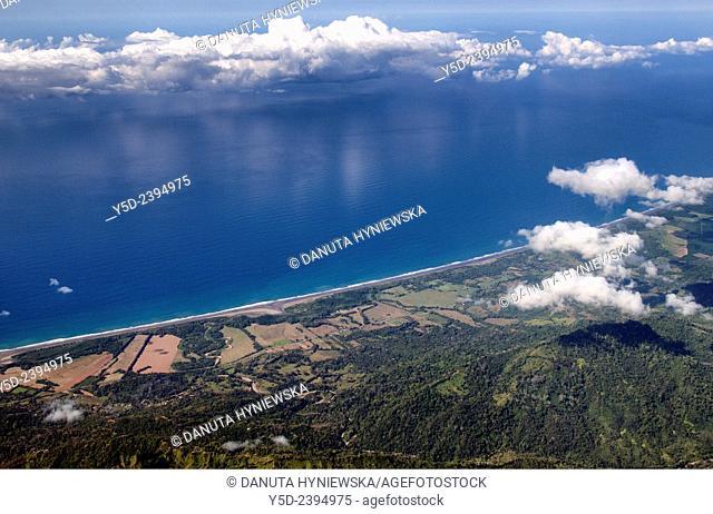Pacific Ocean coast landscape, Puntarenas Province, Costa Rica