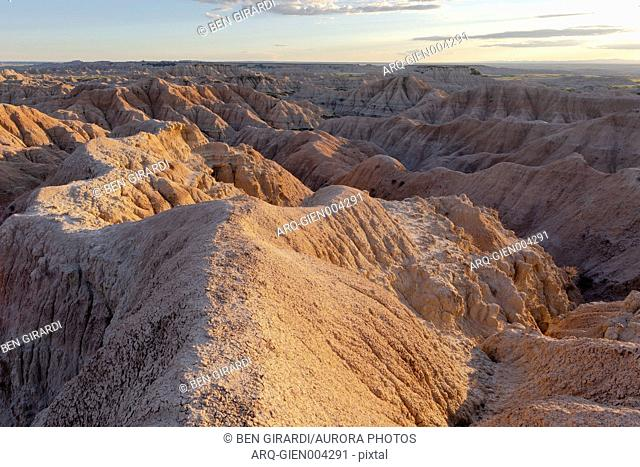 Rock formations of Badlands National Park, South Dakota, USA