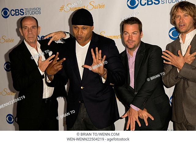 Celebrities attend the 3rd Annual CBS Television Studios Rooftop Summer Soiree at The London Hotel. Featuring: Miguel Ferrer, LL Cool J, Chris O'Donnell