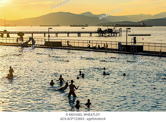 Saltwater swimming pool, Kitsilano Beach, Kitsilano, Vancouver, British Columbia, Canada