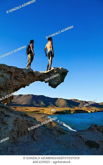 Arco beach, Cabo de Gata - Nijar Natural Park, Almeria province, Andalucia, Spain