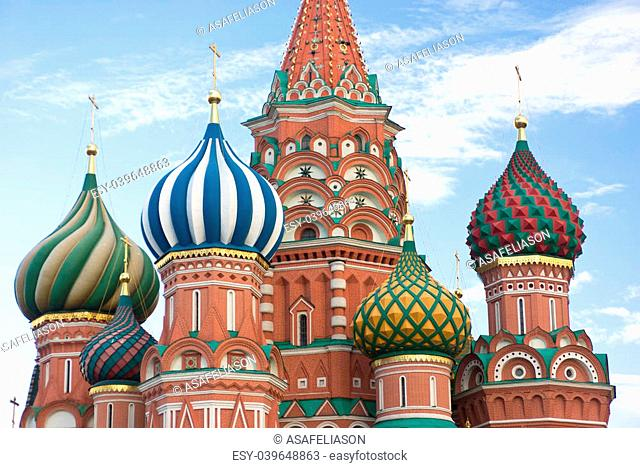 St Basils cathedral in the Red square, Moscow, Russia