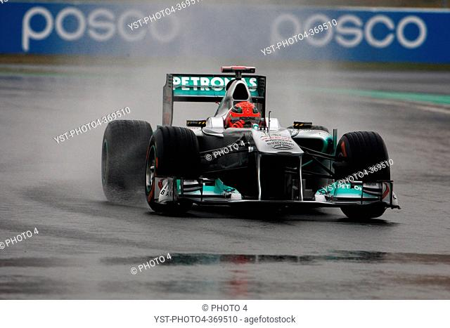 Friday Practice 1, Michael Schumacher GER, Mercedes GP Petronas F1 Team, MGP W2, F1, Korean Grand Prix, Yeongam, Korean