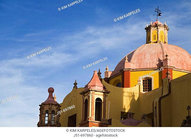 Dome of Roman Catholic church, basilica of Our Lady of Guanajuato, weathervane  Guanajuato, Mexico