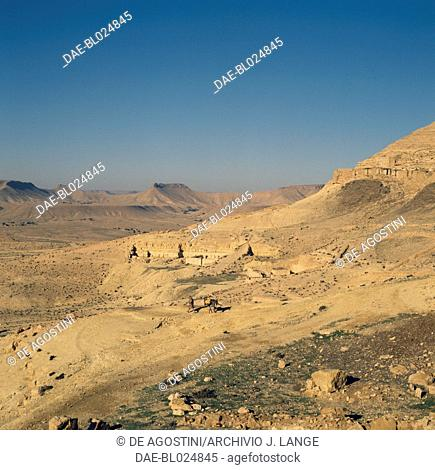 Landscape near Ksar Guermessa, old fortified village, Tunisia