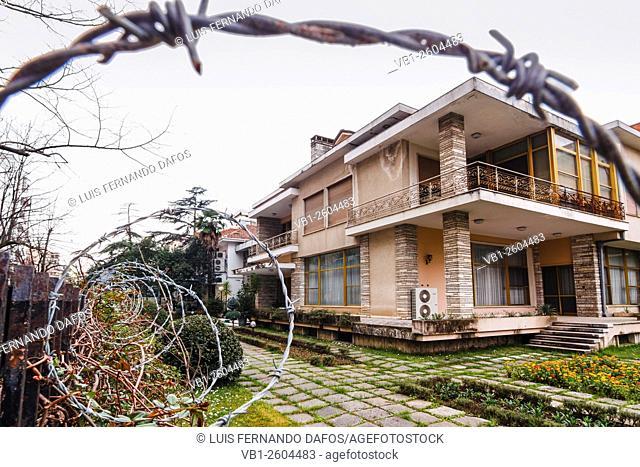 House of former dictator of Albania Enver Hoxha at Blloku district of Tirana, Albania