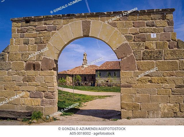 Santa Maria de Cañas monastery. Cistercian monastery. Cañas. La Rioja. Spain