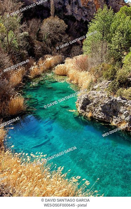 Spain, Water pool in Serrania de Cuenca Natural Park