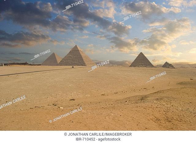 Pyramids at Giza, Cairo, Egypt, Africa