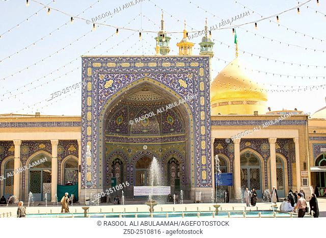 picture of the shrine of Fatima Almasomh, It is the shrine to the Shiite sect and is located in the city of Qom. And contains a huge golden dome and a number of...