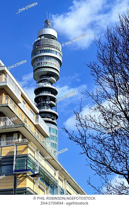 London, England, UK. BT Tower (formerly Post Office Tower - 1964: Eric Bedford and G. R. Yeats)