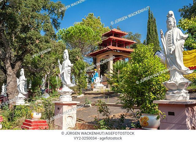 Park of the Pagoda Hong Hien, Frejus, Var, Provence-Alpes-Cote d`Azur, France, Europe