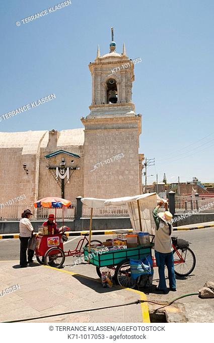 Exterior of the Paucarpata church in Arequipa, Peru, South America