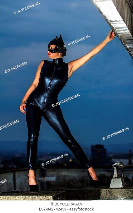 catwoman latex