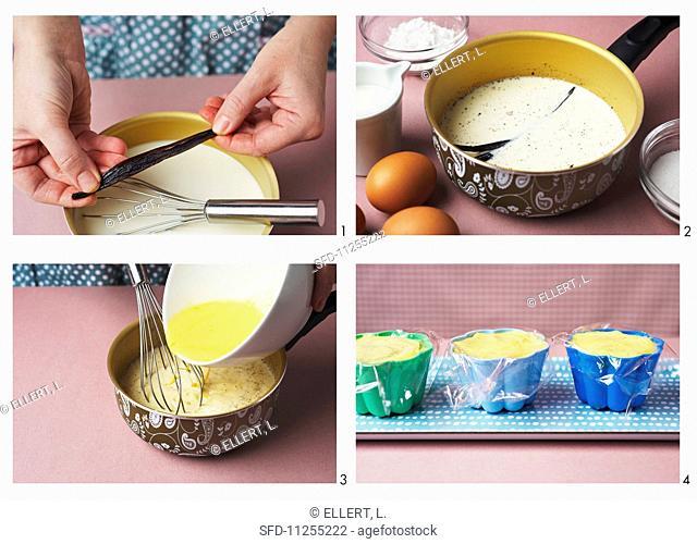Making vanilla blancmange (German Voice Over)