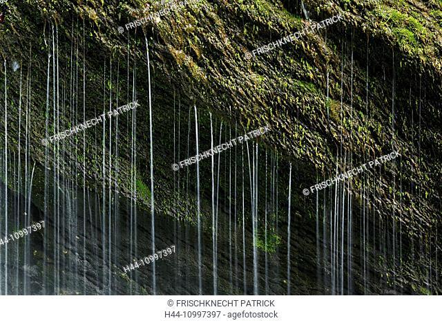 Detail of the Thur waterfalls, canton of St. Gallen, Switzerland