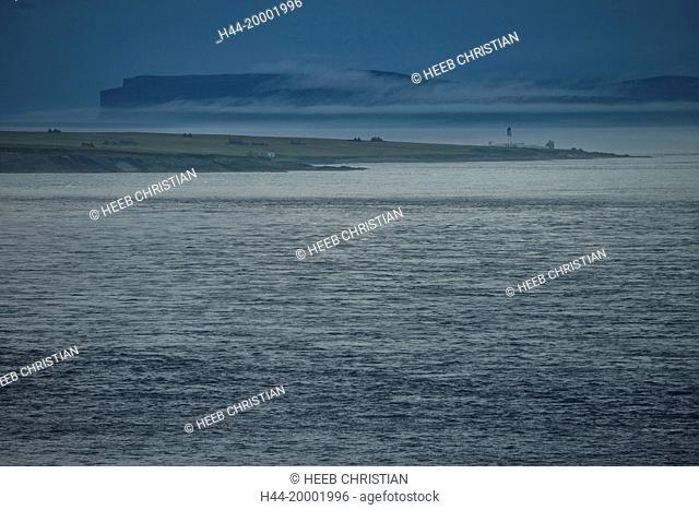Scotland, Highlands, Isle of Skye, John O'Groats, Duncansby Head view to Orney islands