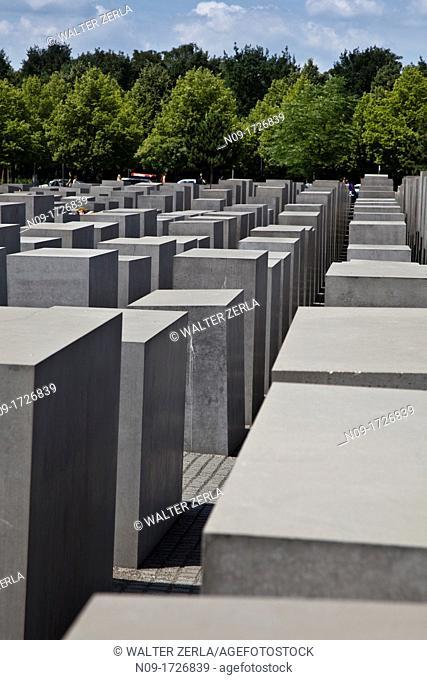 Europe, Germany, Holocaust Memorial in Berlin
