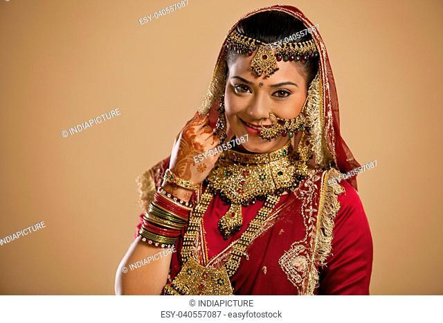 Portrait of a Gujarati bride