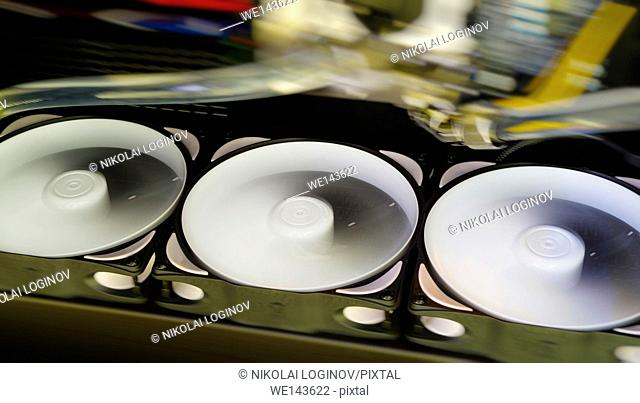 Horizontal diagonal rotating coolers abstraction background backdrop