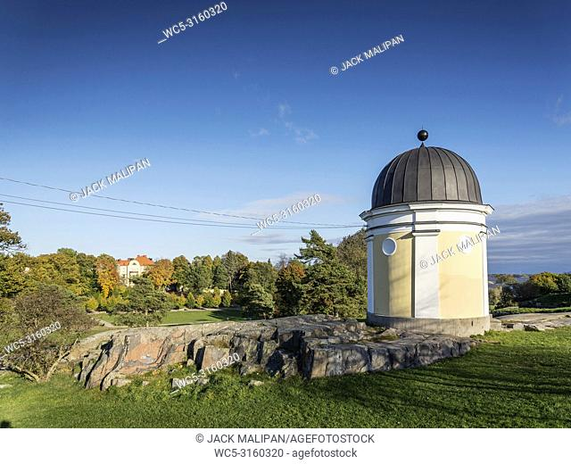 kaivopuisto city urban park in helsinki finland on sunny day