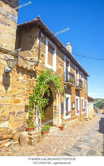 Facade of house. Castrillo de los Polvazares, Leon province, Castilla Leon, Spain