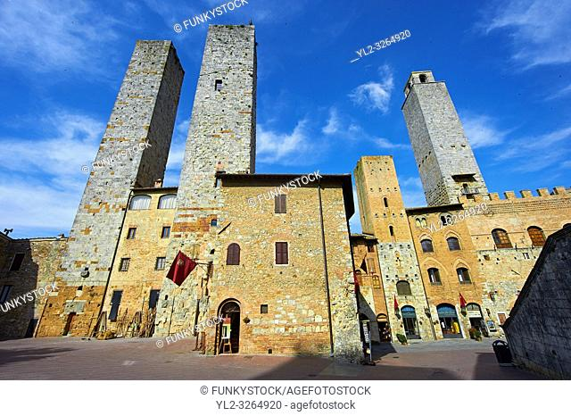 The so called twin towers of Sangimignano built in the 13th century as defensive towers and also to show prestige and wealth
