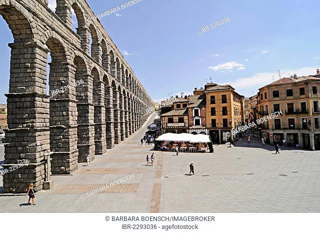 Roman aqueduct, UNESCO World Heritage Site, Segovia, Castile and León, Spain, Europe, PublicGround