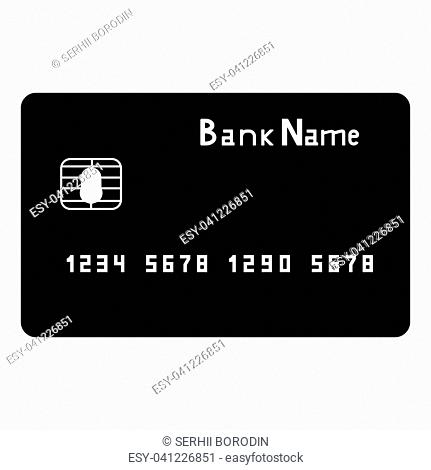 Bank cit card it is the black color icon