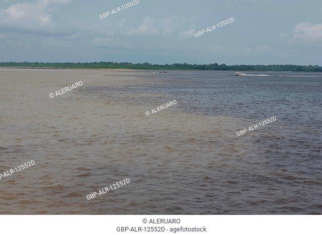 Encounter of the Waters, Negro River, Solimões River, Amazônia, Manaus, Amazonas, Brazil