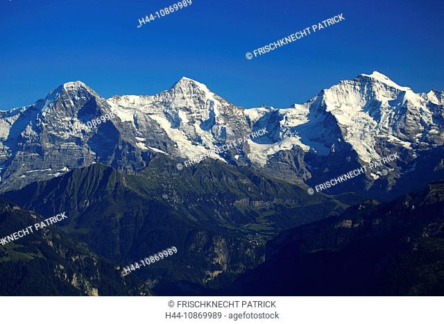 To nightmares, Alps, Alpine panorama, view, mountain, mountains, mountain massif, mountain panorama, Bern, the Bernese Oberland, 3-stars, Eiger, ice, cliff