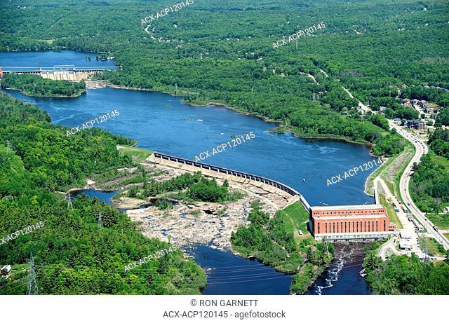 aerial, dam, power station, Gatineau, Québec