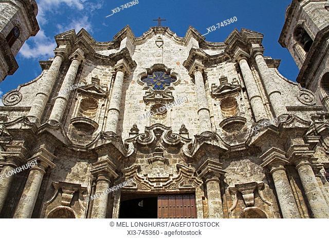 Catedral de La Habana, San Cristobal Cathedral, Plaza de la Catedral, Havana, La Habana Vieja, Cuba