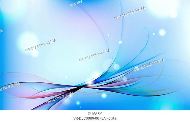 Abstract image against blue background