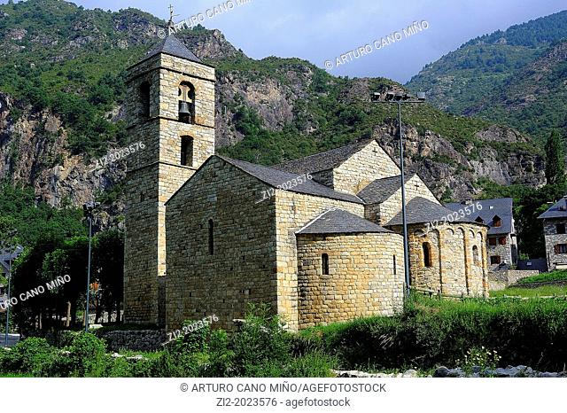 Romanesque church of Sant Feliu de Barruera, Lleida province, Catalonia, Spain