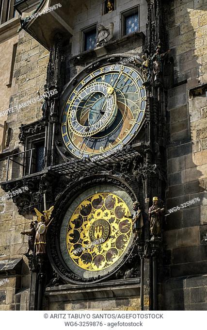 Astronomical clock, Old Town Square, Prague, Czech Republic