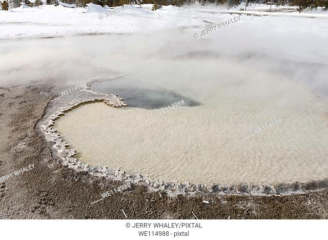 Hot Spring, Upper Geuser Basin, Winter, Yellowstone NP