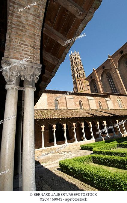 The cloister of the Couvent des Jacobins .Toulouse.France