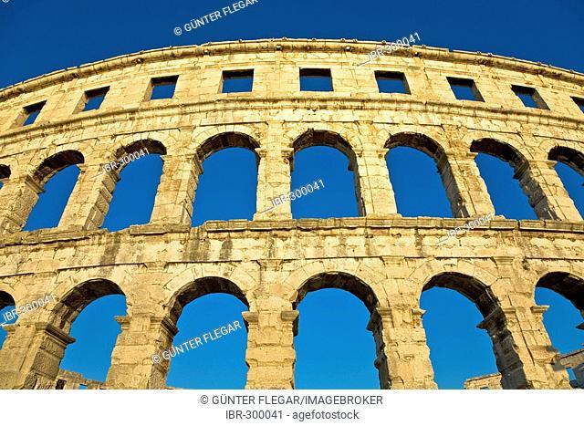 Roman amphitheater of Pula, Istria, Croatia
