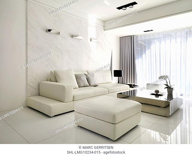 Monochromatic modern living room